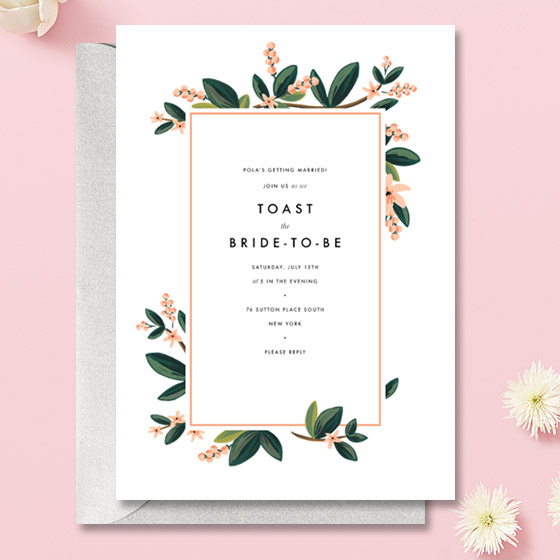 Pretty Bridal Shower Invitations