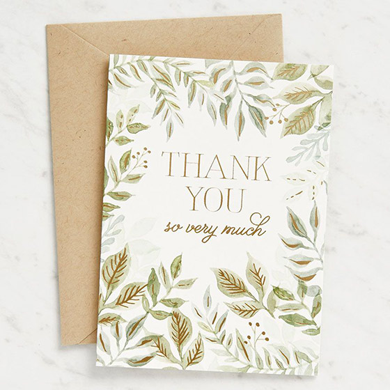 Thoughtful Thank You Cards