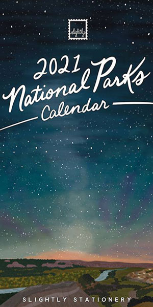 Slightly Stationery National Parks Calendar