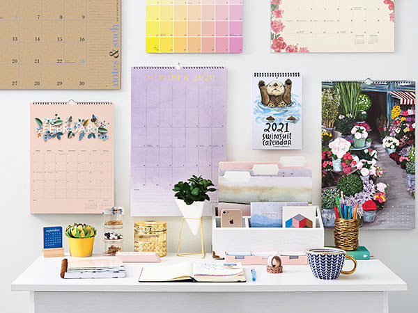 lifestyle shot of wall calendars