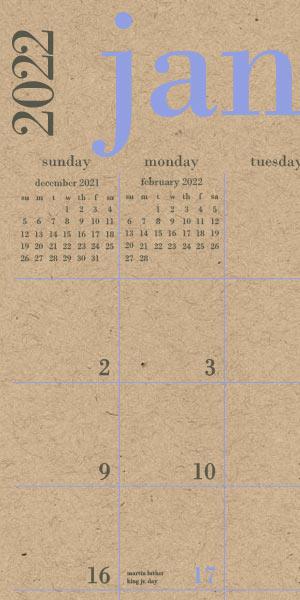 Paper Source Great Big Calendar.