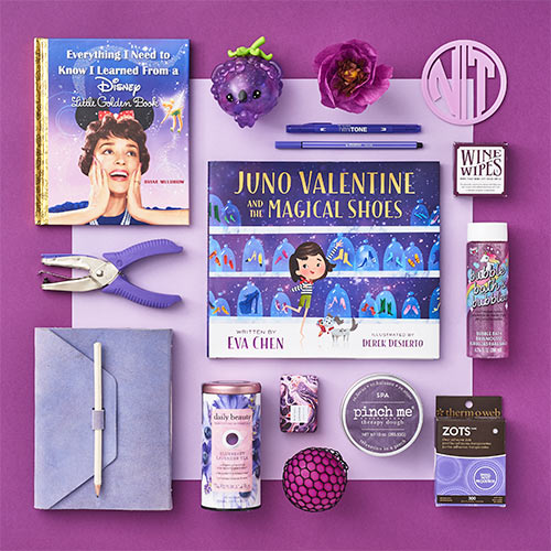 an array of purple products