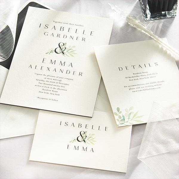 Classic Noir Wedding Invitation Suite.