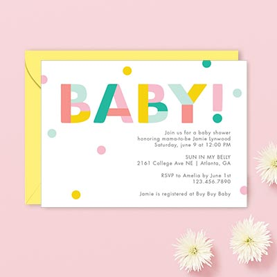 Custom Baby Shower Invitations