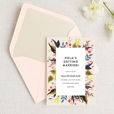 Custom Bridal Shower Invitations
