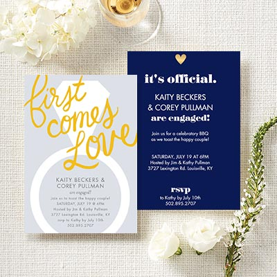 Custom Engagement Party Invitations