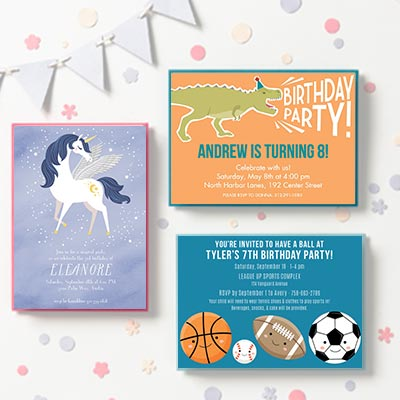 Custom Kids Party Invitations