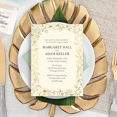 Custom Rehearsal Dinner Invitations