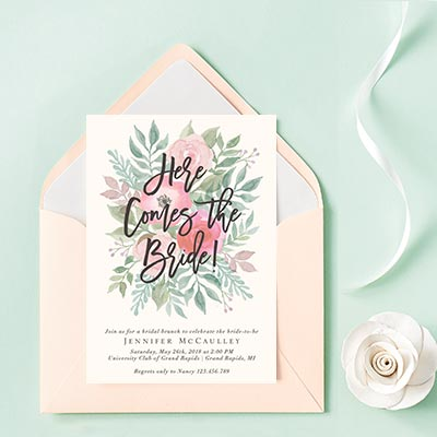 Custom Wedding Brunch Invitations