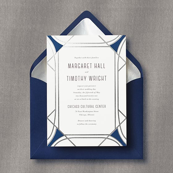 Faceted Gemstone Invitation