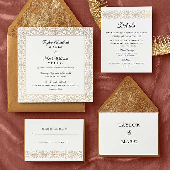 Lavish Gilded Border Wedding Suite