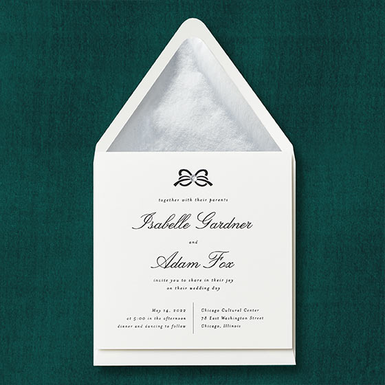 Ornamental Bow Invitation