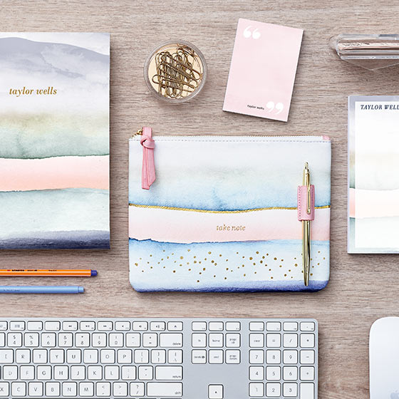 watercolor personalized notepads