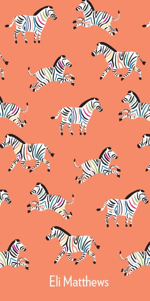 Colorful Zebras Custom Design