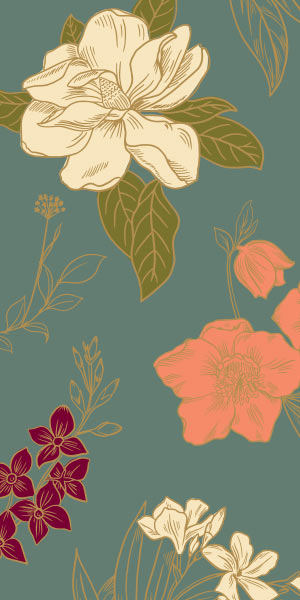 Gold Floral Family Large Planner.