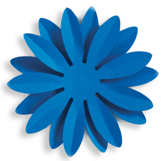 blue paper daisy