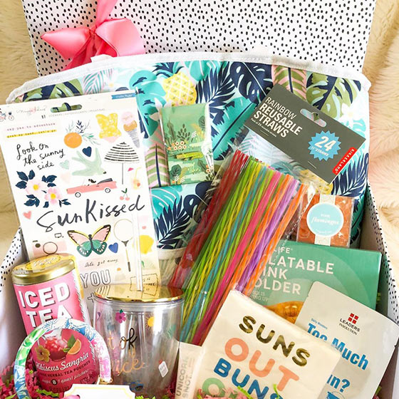 box of summer products