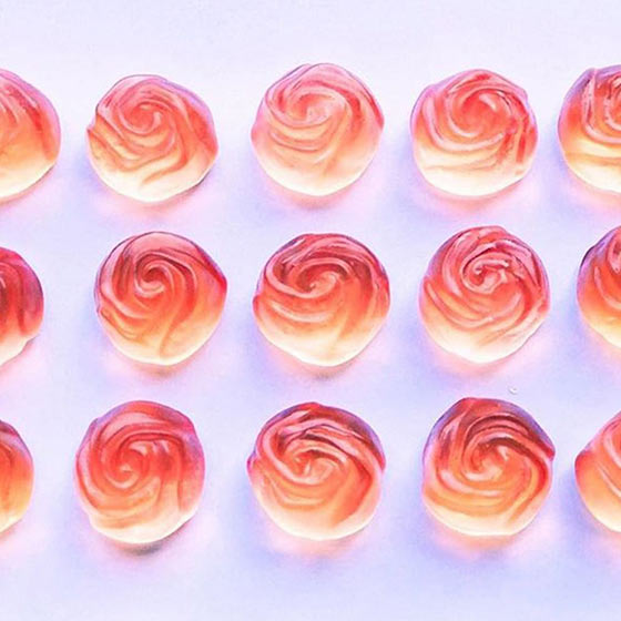 rose shaped candies