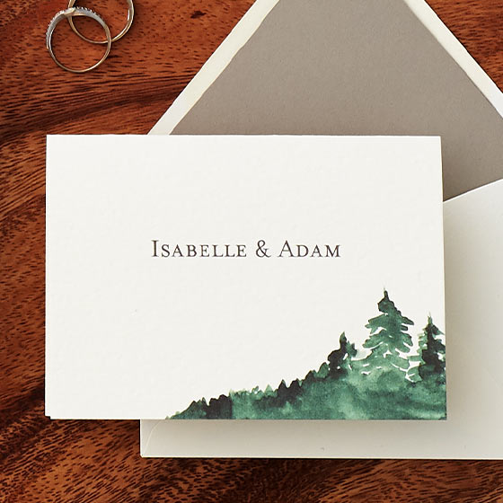 sierra wedding invitation suite