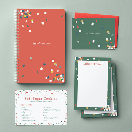 Paper Source x West Elm Personalized Journal, Notepads, Stationery and Recipe Card