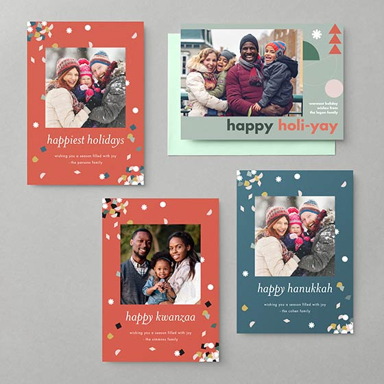 Paper Source X West Elm Holiday Photo Cards Collection