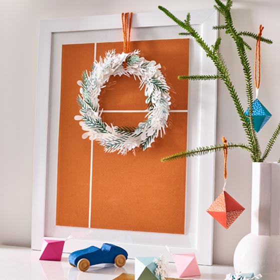 Paper Source x West Elm DIY Paper Winter Wreath