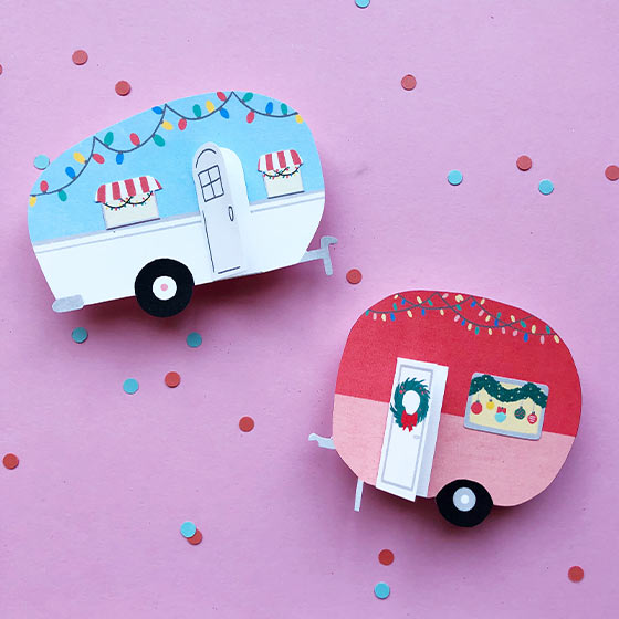 Mini Holiday Campers Craft