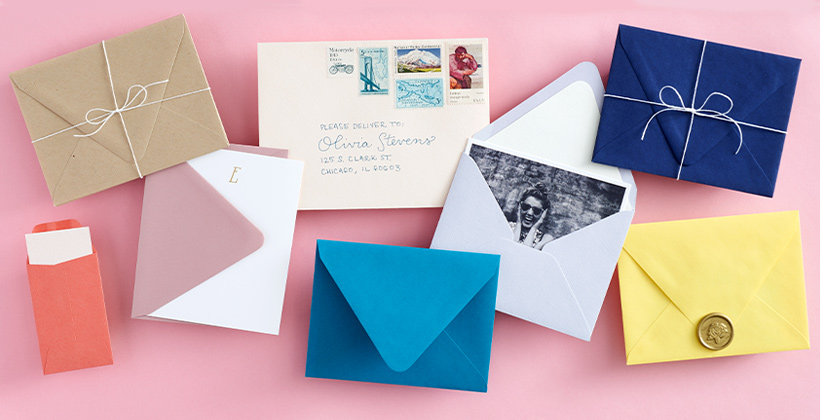 Colorful envelopes from Paper Source Paper Bar.