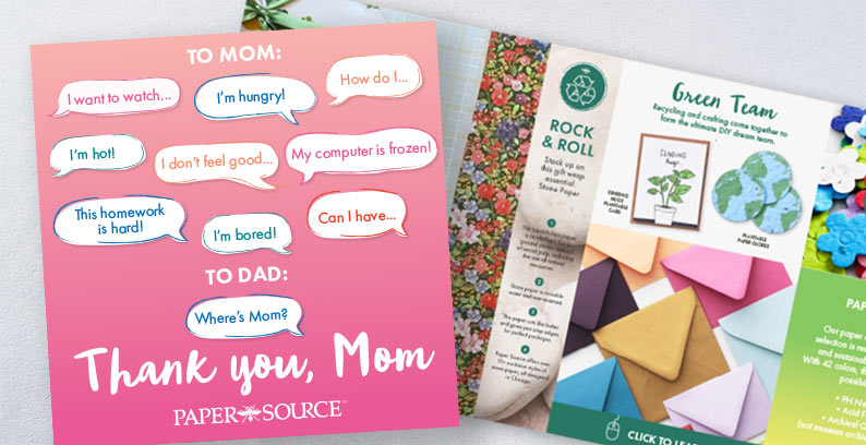 Paper Source 2021 Mother's Day Catalog.