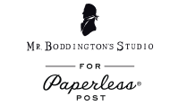 Mr. Boddington for Paperless Post Logo