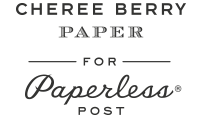 Cheree Berry for Paperless Post Logo