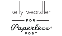 Kelly Wearstler for Paperless Post Logo