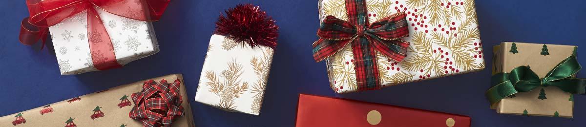 seasonal christmas wrapping paper