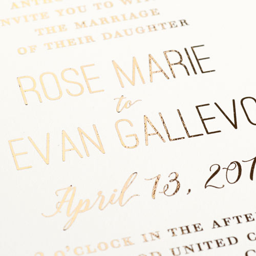 Foil Printed Wedding Invitation