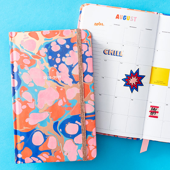 painted planner from Ban.do