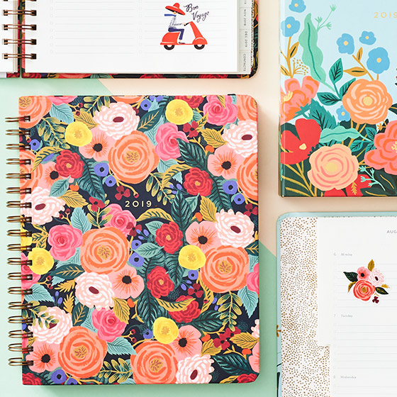 floral planner from Rifle Paper Co.
