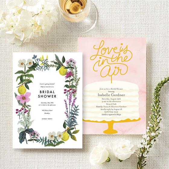 Shop Custom Bridal Shower Invitations