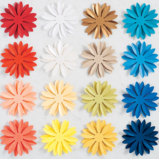 Colorful Paper Flowers for Semi-Annual Sale
