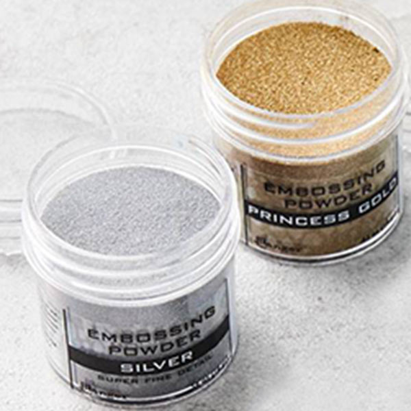 gold and silver embossing powder