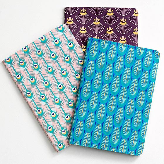 Personalized Planner with Peacock on Cover