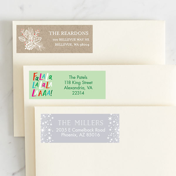 Custom Holiday Address Labels