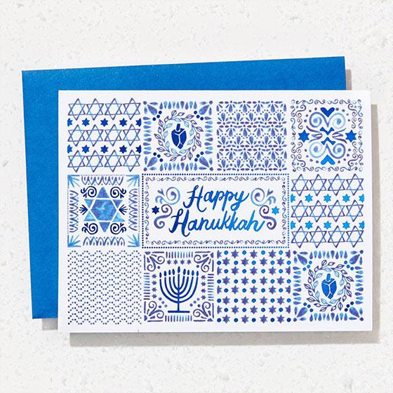 Single Hanukkah Cards