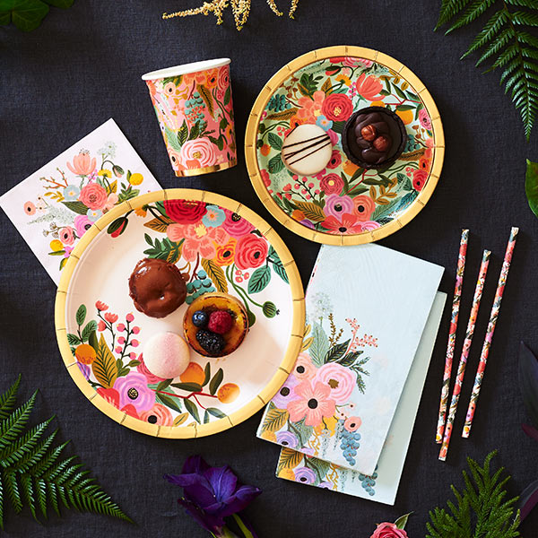Floral Paper Plates and Party Supplies