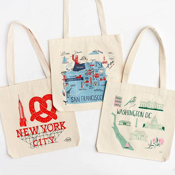 Tote Bags for NYC, San Francisco & Washington DC