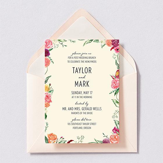 Wedding Brunch Invitations
