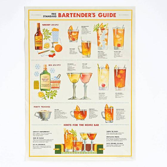 bartender's guide gift wrap