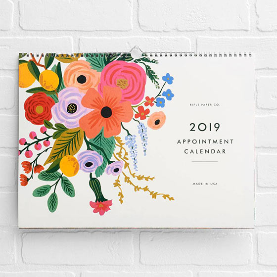 rifle floral calendar