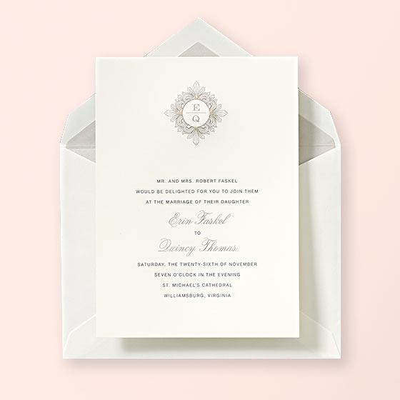 Custom Wedding Invitations by Crane Co.