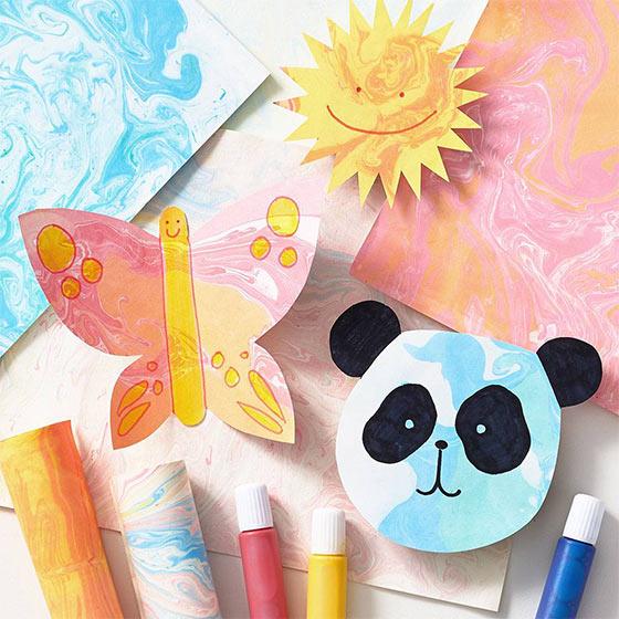 cute marbling diy for kids