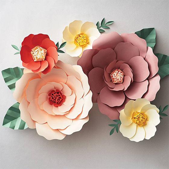 ornate paper flowers